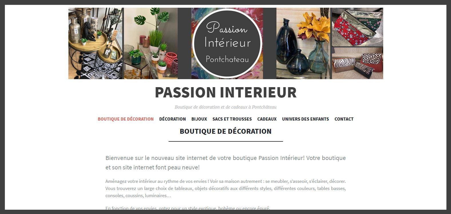 Site Internet Decoration Intérieure passion intérieur - aaetic